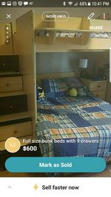 full size bunk beds 9 drawers in Beaufort, South Carolina