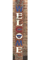 Bricks and Ivy Chicago Cubs Welcome Porch Sign in Bolingbrook, Illinois