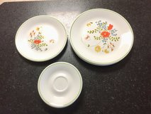 Corelle by Corning, Wildflower pattern Replacement Dinner, Lunch, and Saucer plates in Bolingbrook, Illinois