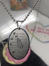 Silver Prayer Necklace in Tinley Park, Illinois