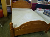 solid wood double bed frame only in Lakenheath, UK