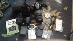 Canon Digital Rebel XTi with 3 lenses and memory card in Fort Leonard Wood, Missouri