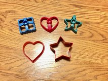 Various Cookie Cutters or for Play Doh (Set of 5) in Plainfield, Illinois