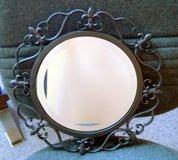 Wall mirror artistic heavy metal frame in Oswego, Illinois