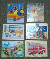 children's wood puzzles set of 6 winnie the pooh fire truck in Joliet, Illinois