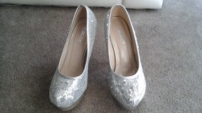 Silver beaded shoes in Naperville, Illinois