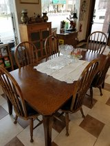 Dark Oak Dining Table and 6 Chair in Fort Leonard Wood, Missouri