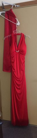 RED Evening Dress w/ Matching Scarf Shoulder Wrap in Fort Knox, Kentucky