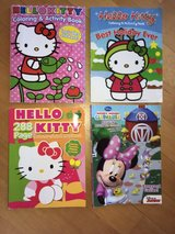 Girls Hello Kitty and Mickey Mouse Clubhouse Coloring and Activity Books in Lockport, Illinois