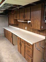 Base and upper cabinets and counter tops in Naperville, Illinois
