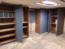 Steel Door storage shelving. Great for garage or basement! in Naperville, Illinois