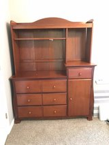 Solid Wood Hutch/Changing Table For Nursery in Bellaire, Texas