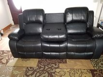 New Black Leather Reclining Sofa/Loveseat in CyFair, Texas