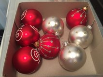 8 Glass Christmas Ornaments - Poland in Naperville, Illinois