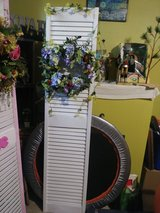 Upcycled. Wood Shutter Doors with Wreath in Naperville, Illinois