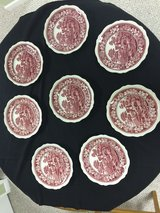 "Copeland,Spode Tower red with old stamp mark,7 3/4"" Salad Plates in Naperville, Illinois"
