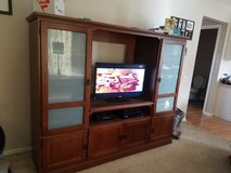 Solid Wood Entertainment Center in Naperville, Illinois