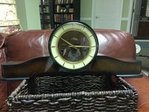 vintage mantle clock. made in Germany in Westmont, Illinois