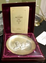 Franklin Mint,1972 Mother's Day Plate. Sterling Silver in Naperville, Illinois