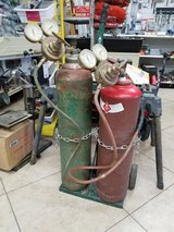 Oxy acetylene tank set in Yucca Valley, California