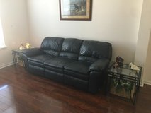 Leather Couch & Loveseat- Navy in Summerville, South Carolina