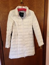 Women's American Eagle Outfitters, Ivory, Quilted, Mid-length Coat Down Insulated S/P in Aurora, Illinois