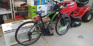 "26"" Schwinn Sidewinder Men's Mountain Bike, Matte Black/Green- revised in Camp Lejeune, North Carolina"