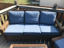 Hampton Bay Blue/Brown Outdoor Couch in Kansas City, Missouri