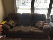 Ashley Nut Brown 3 Piece Reclining Couches in Kansas City, Missouri