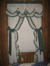 Country Green Calico Curtain in Fort Polk, Louisiana