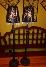 Black lamps in Spring, Texas