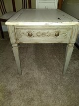 Painted antique wood end table in Pleasant View, Tennessee