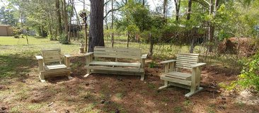 Wooden Swing-Glider Chair Pressure Treated in Conroe, Texas
