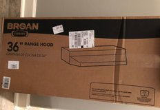 Broan Vent Hood, 36 inch under cabinet, NEW in box in Spring, Texas