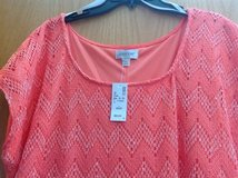 New Avenue Coral Chevron Crochet Sheath Dress 26/28 in Manhattan, Kansas