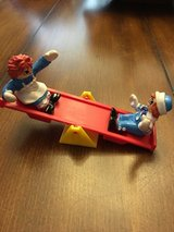 Vintage McDonalds Raggedy Ann and Andy on see saw in Kingwood, Texas