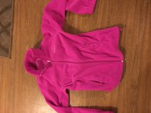 Pink Columbia jacket in Fort Drum, New York