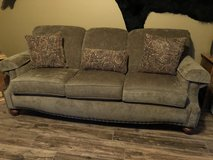 Very Nice Bassett Couch with Nail Heads and 3 Pillows in Fort Leonard Wood, Missouri