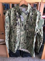 NEW US Navy AOR2 NWU Camouflage COMBAT Blouse JACKET SEAL Size LR in Camp Pendleton, California
