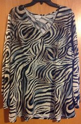 New with tags Avenue 26/28 Animal print shirt in Fort Riley, Kansas