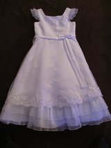 Girls Rare Edition Formal Fancy White Dress sz 8, Communion, Flower Girl in St. Charles, Illinois