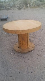 solid wood pinwheel handcrafted table in bookoo, US