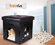 Cat House, Legendog Multi-functional Wooden Pet House, Foldable Cat Condos Cat Cube, Black Cat C... in St. Charles, Illinois