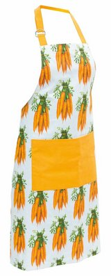 "Farm to Plate Carrots Apron 34"" L x 24"" W Made of cotton in Camp Lejeune, North Carolina"