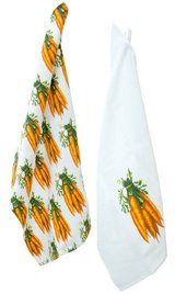 "Farm to Plate Carrot Kitchen Tea Towels are 28"" L x 18"" W (unfolded) sry of 2 in Camp Lejeune, North Carolina"