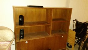 NICE Book Shelf Cabinet w/lower pull out door (heavy wood) in Camp Pendleton, California