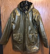 QUILTED GOLD RAIN COAT OR JACKET in Lakenheath, UK