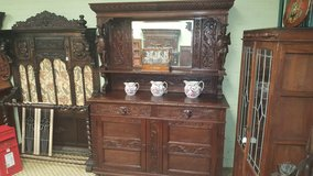Carved Oak Green Man Sideboard with knights Free Delivery Others Available in Lakenheath, UK