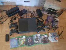 XBOX ONE 500GB with KINECT, 4 controllers, 4 games, media remote, 5 Disney Infinity Figures and ... in Ramstein, Germany
