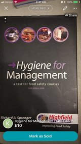 Hygiene for Management (14th edition) in Lakenheath, UK